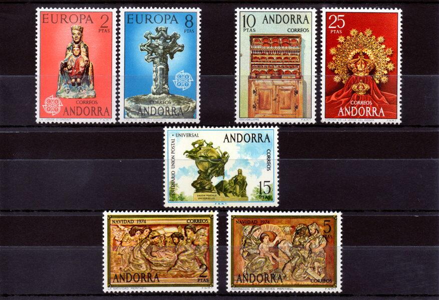 ANDORRA - Año completo 1974