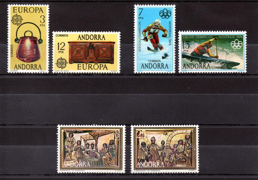 ANDORRA - Año completo 1976