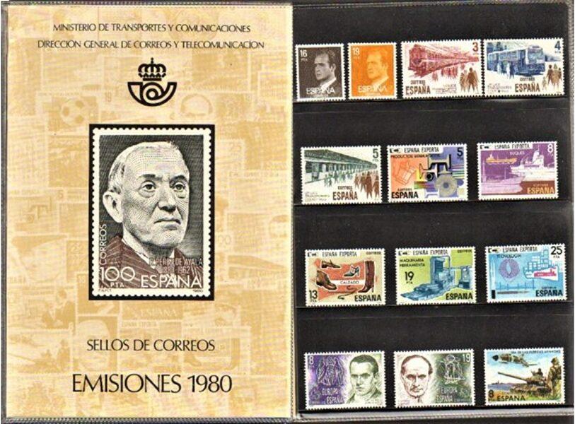 Libro Oficial de Correos año 1980 <con sellos>