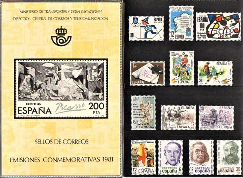 Libro Oficial de Correos año 1981 <con sellos>