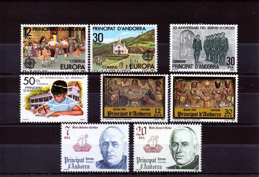 ANDORRA - Año completo 1981