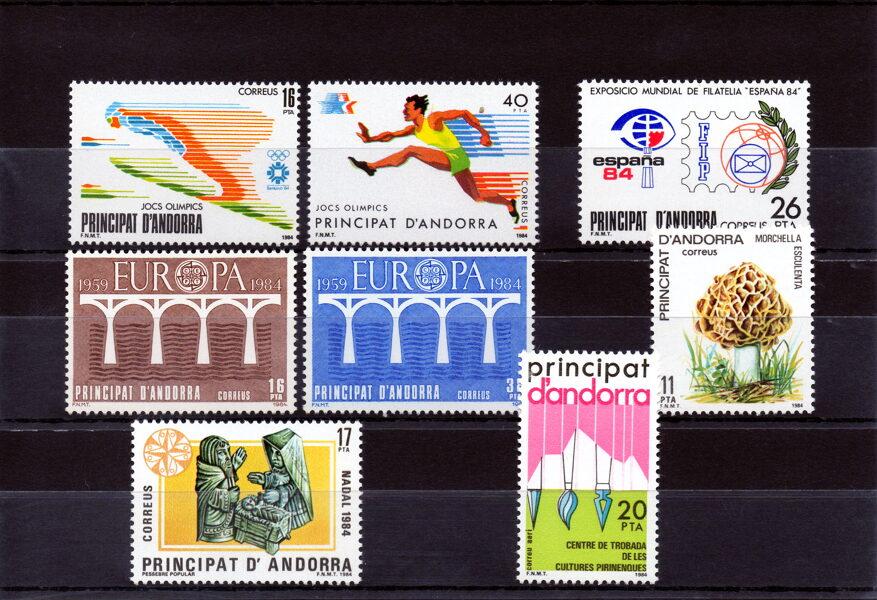 ANDORRA - Año completo 1984