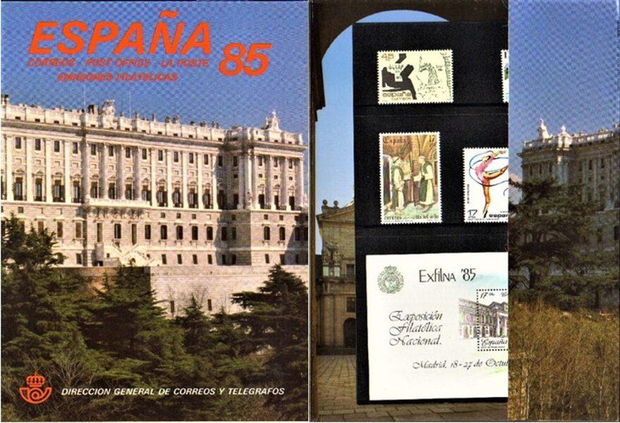 Libro Oficial de Correos año 1985 <con sellos>