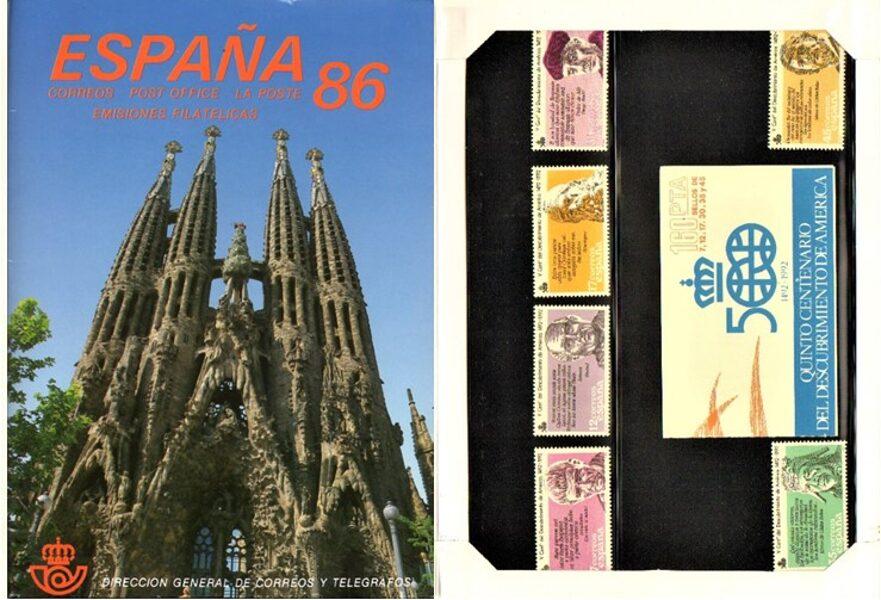 Libro Oficial de Correos año 1986 <con sellos>