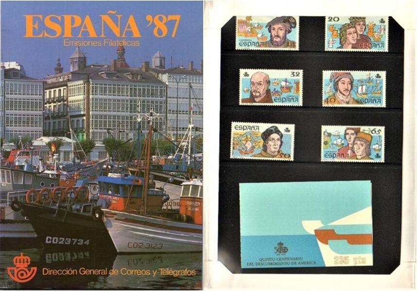 Libro Oficial de Correos año 1987 <con sellos>
