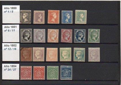 Lote de 20 Sellos FALSOS  de Isabel II