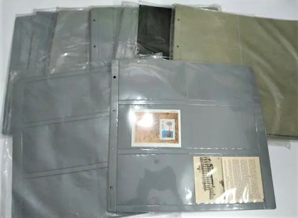 70 Hojas marca Lindner tamaño XL