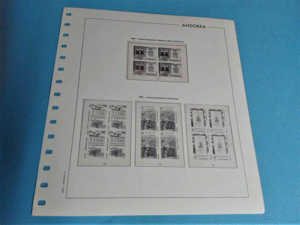EDIFIL ANDORRA B4 años 1948 a 1993 (sin 1991)  montado con estuches transparentes / ref. 065
