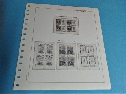 EDIFIL ANDORRA Bloque de 4 años 1948 a 1993 (sin 1991) montado con estuches transparentes / Ref. 075