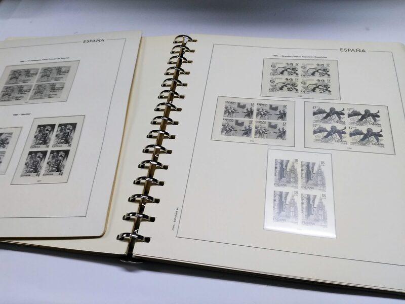 EDIFIL Bloque de Cuatro años 1980 a 1985 montado con  estuches transparentes  / Ref. 162