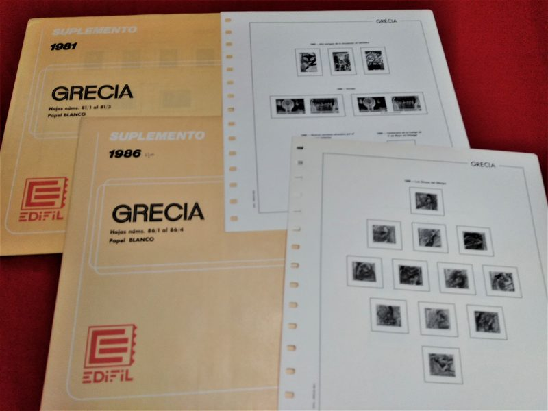 EDIFIL Grecia 1986 sin estuches + 1988 con estuches