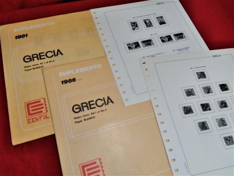 EDIFIL Grecia 1980-1981 sin estuches