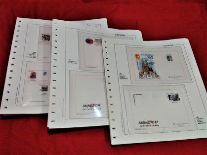EDIFIL SOBRES ENT. POSTALES 1997 a 1999 montado con estuches transparentes