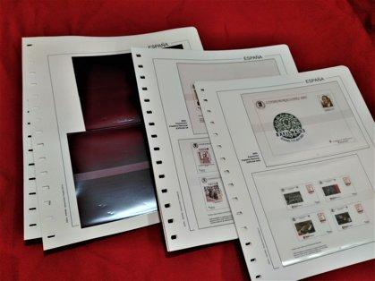 EDIFIL SOBRES ENT. POSTALES 2000 a 2004 montado con estuches transparentes*