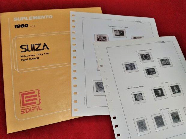 EDIFIL Suiza años 1976 a 1981 sin estuches
