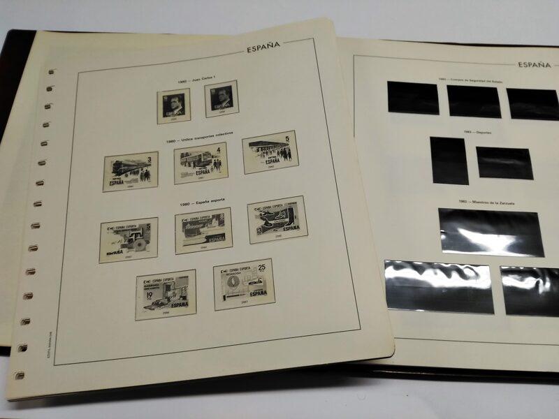 EDIFIL años 1981 a 1990 montado con estuches Transparentes/ negros **Mal montado** / Ref. 245