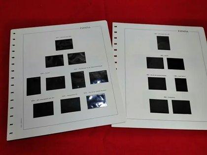 EDIFIL años  1980 a 1986 montado con estuches negros / Ref.113