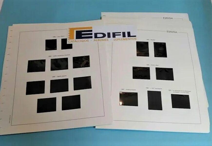 EDIFIL ANDORRA 1977 a 1989  montado con estuches negros / Ref. 283a