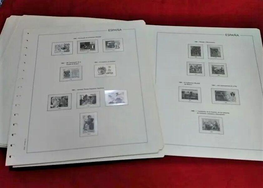 EDIFIL años 1986-1987 montado con estuches transparentes / Ref 181