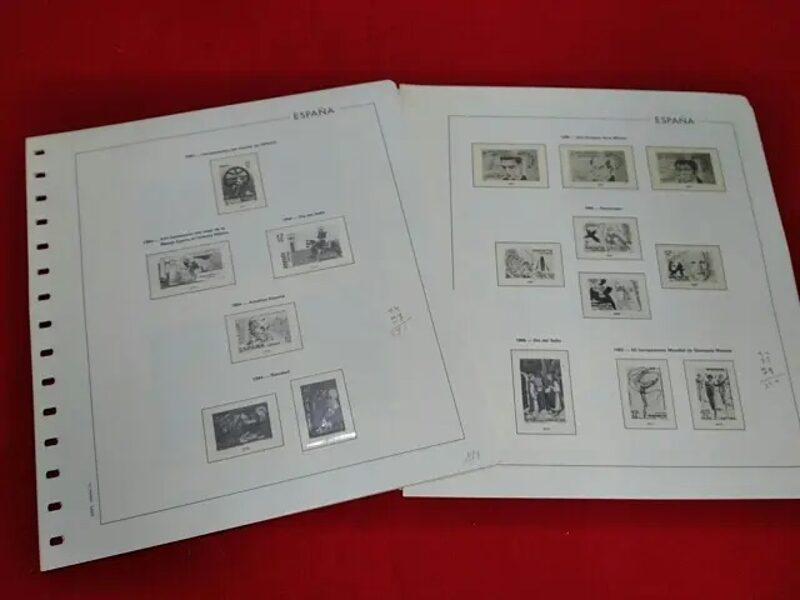 EDIFIL años 1979 a 1986 montado con estuches transparentes / Ref. 343