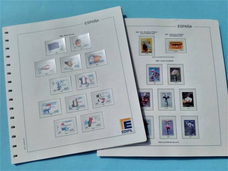 EDIFIL 1999-2000-2001  <para sellos recortados HB> montado con estuches transparentes / Ref. 309a