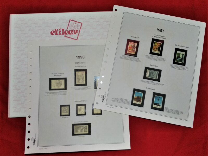 EFILCAR Especial años 1980-1981-1982 montado con estuches transparentes / Ref. 234b