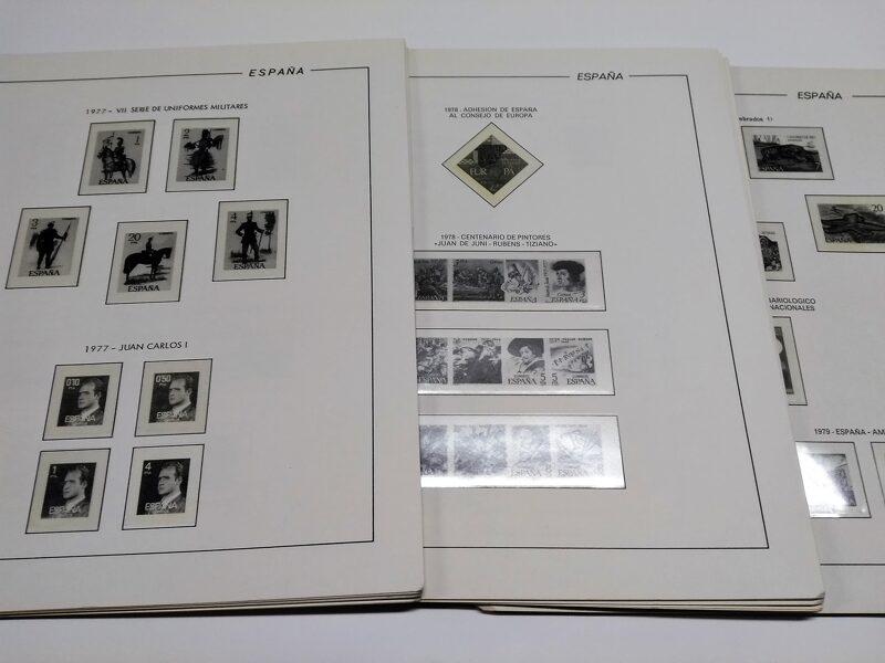 FILABO años 1980 a 1982 -Registro- montado con estuches transparentes / Ref. 216a