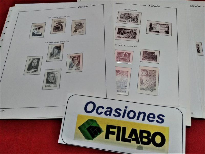 FILABO años 1981 a 1984 montado con estuches transparentes / Ref. 024