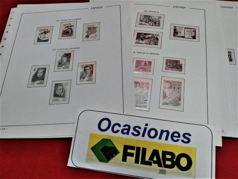 FILABO años 1975 a 1982 montado con estuches transparentes / Ref. 030