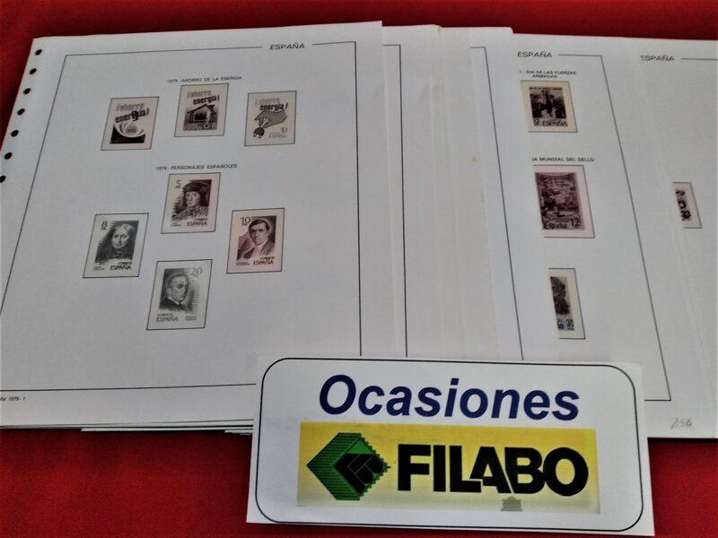 FILABO años 1977 a 1981 montado con estuches transparentes / Ref. 251