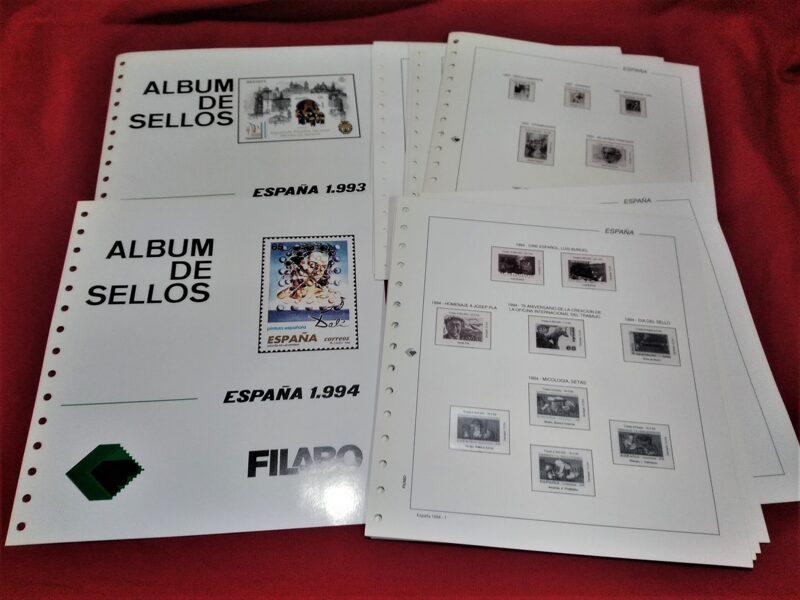 FILABO año 1994 montado con estuches transparentes / Ref. s042