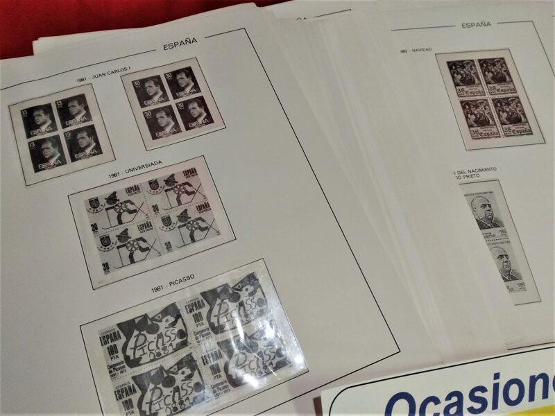 FILABO Bloque de Cuatro años 1976 a 1980 montados con estuches transparentes / Ref. 051