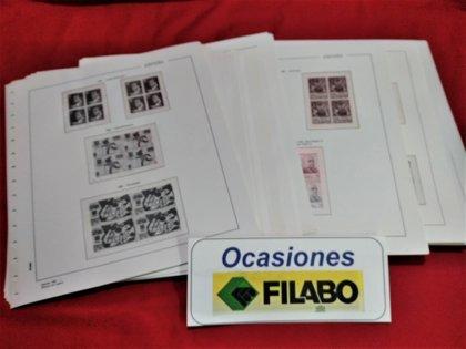 FILABO Bloque de Cuatro años 1981 a 1987 montado con estuches transparentes / Ref.080