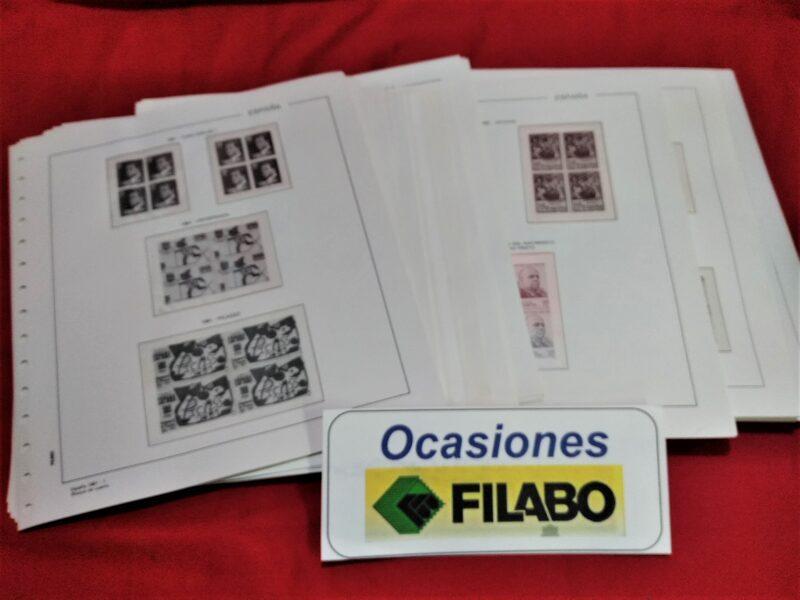 FILABO Bloque de Cuatro años 1976 a 1977 montados con estuches transparentes / Ref. 182