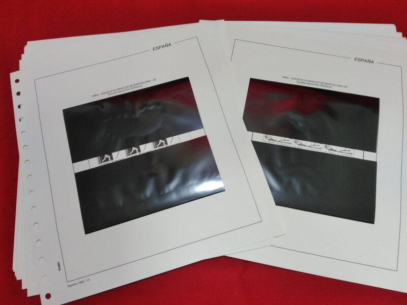 FILABO Minipliegos años 1989-1990-1991 montado con estuches negros / Ref. 163