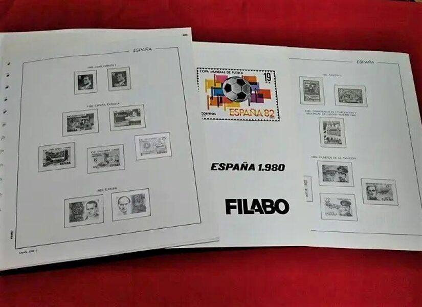 FILABO año 1980 -Registro- montado con estuches transparentes / Ref. 198a