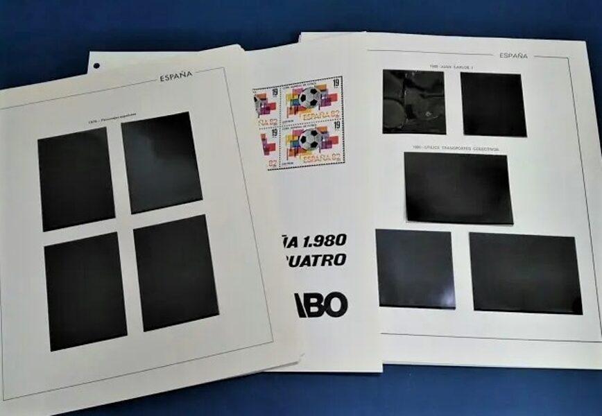 FILABO Bloque de Cuatro años 1979 a 1985 montado con estuches negros / Ref. 032