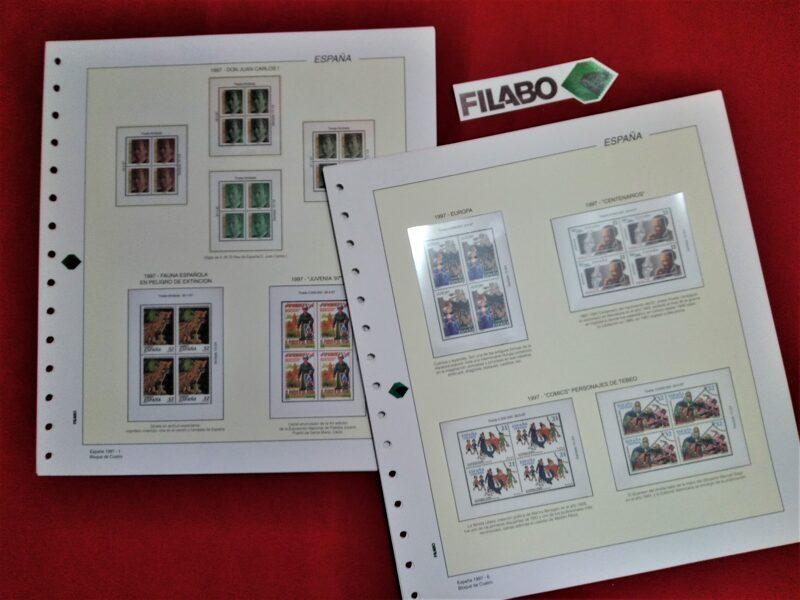 FILABO  año 1997 montado con estuches transparentes / Ref. s057