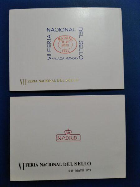 Lote 2 Carpetas Feria Nacional del Sello años 1973-1974
