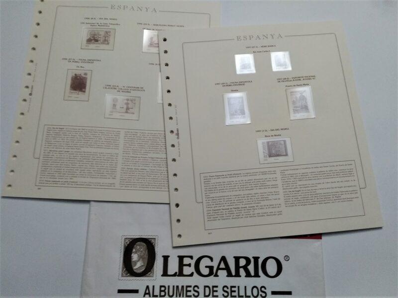 OLEGARIO años 1997 montado con estuches transparentes -Título Espanya-  / Ref. s022
