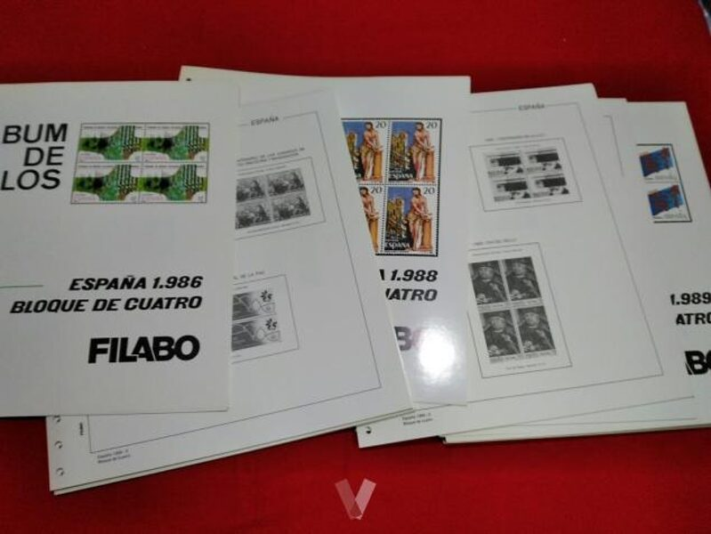 FILABO Bloque de Cuatro años 1986 a 1990  sin estuches / Ref. 031