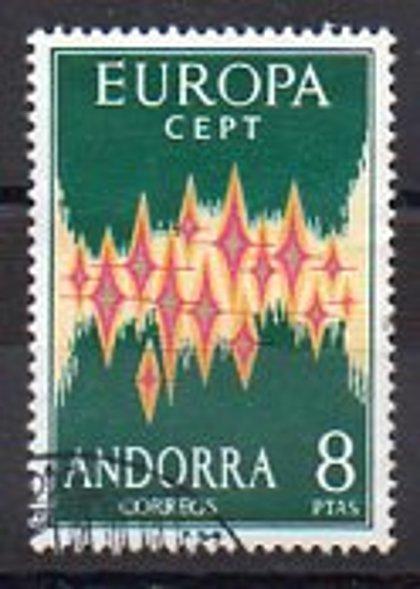 ANDORRA //  Año 1972 - nº 72  usado Primer Día