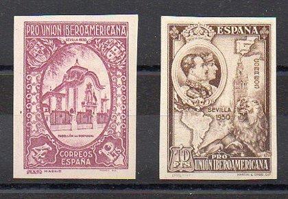 ESPAÑA //  FALSOS / Año 1930 - nº 579-580 SIN DENTAR