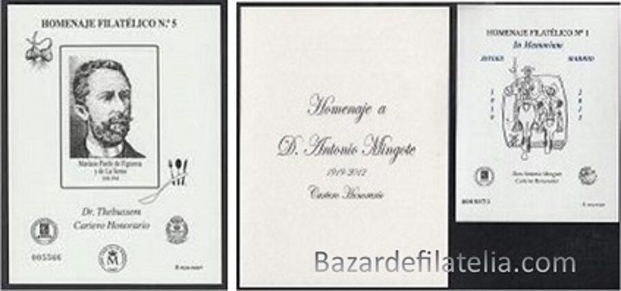 Conjunto de Homenajes Filatélicos nº 8A - 9A