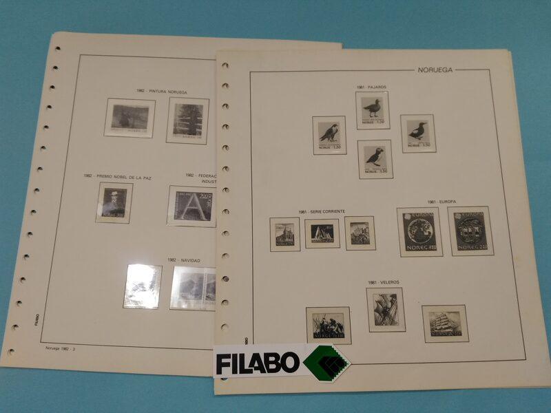 FILABO  < NORUEGA >  años 1981 a 1985 montado con estuches transparentes / Ref. ex005