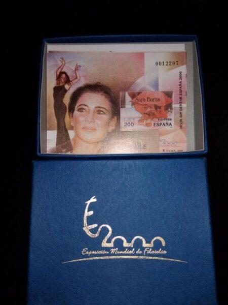 ESPAÑA 2000 EDIFIL nº3756/3766 SD 11 HOJAS BLOQUE SIN DENTAR EN SU CAJA
